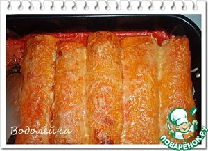 Put into the oven at t=170-180 gr. for about 20 minutes. Or until Golden brown. But do not overdo.