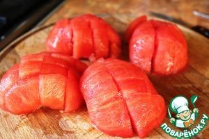 Tomatoes peel, cut into.