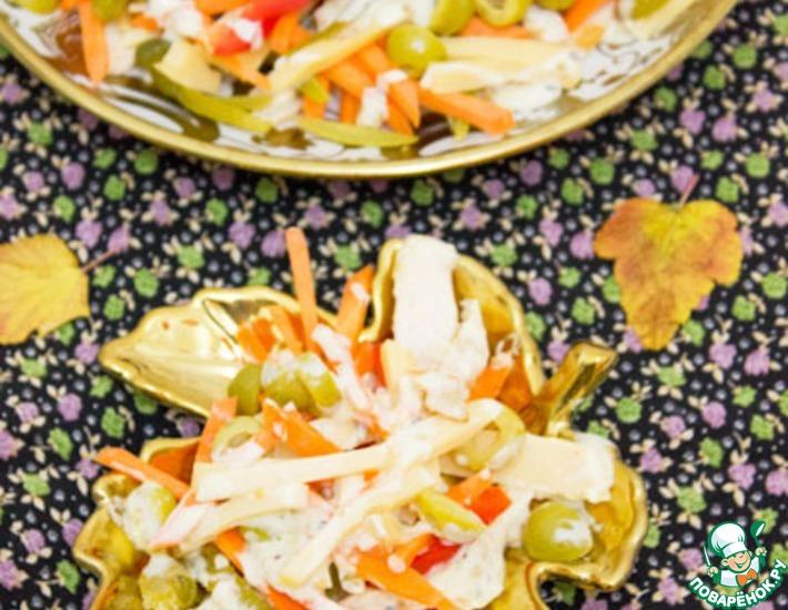 Рецепт: Итальянский салат из курицы