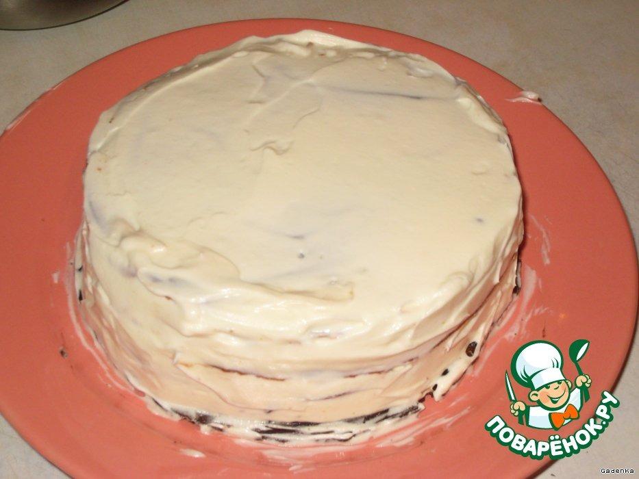 Тортик «Неудачные трубочки» с сырным кремом
