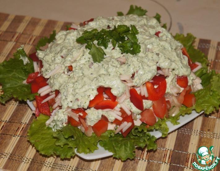 Рецепт: Салат с брынзой
