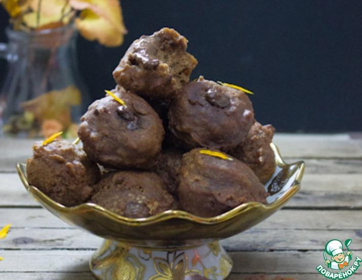 Рецепт: Шоколадные шарики с шоколадным кремом