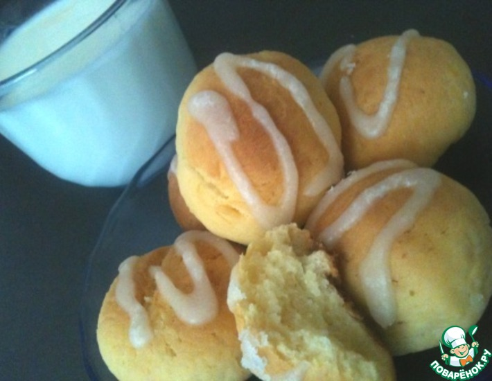 Рецепт: Творожно-лимонное печенье