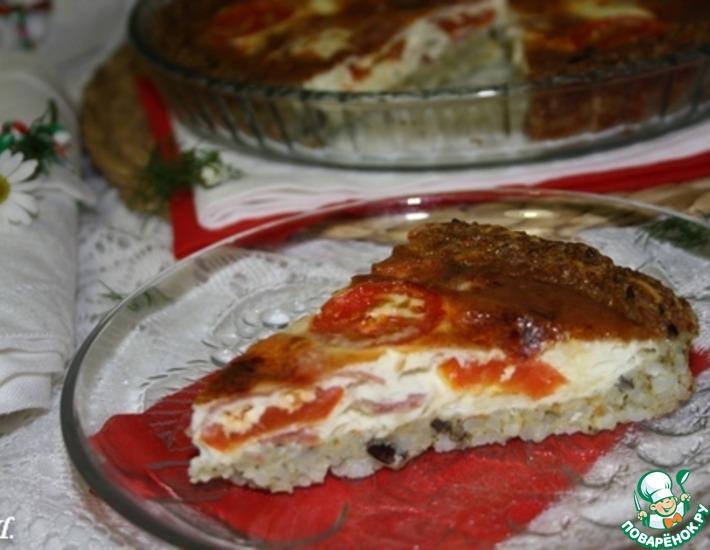 Рецепт: Итальянский томатно-рисовый тарт