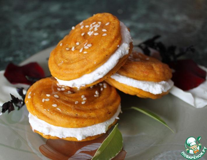 Рецепт: Тыквенные пирожные со сливочной начинкой Аромат Италии