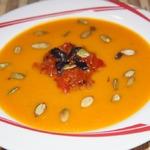 Суп-пюре из тыквы с медом и базиликом