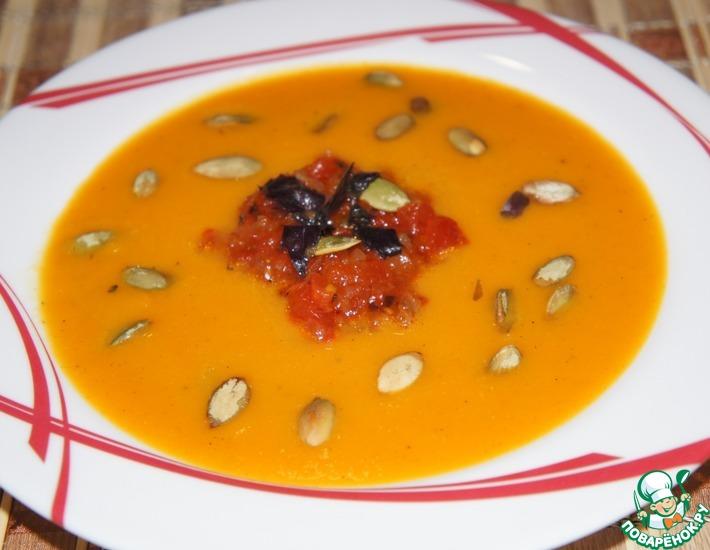 Рецепт: Суп-пюре из тыквы с медом и базиликом