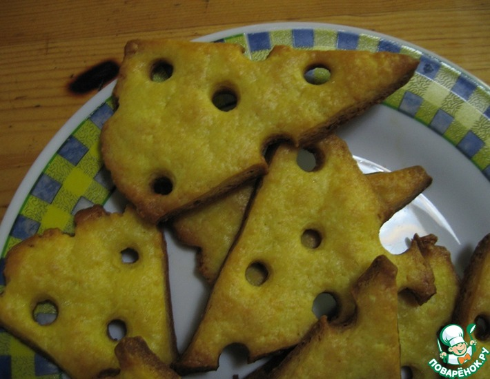 Рецепт: Сырное печенье Сыр
