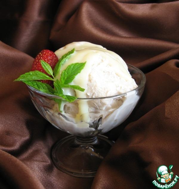 Сливочно-персиковое мороженое