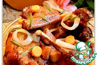 Рецепт: Пряная медовая утка на рисе