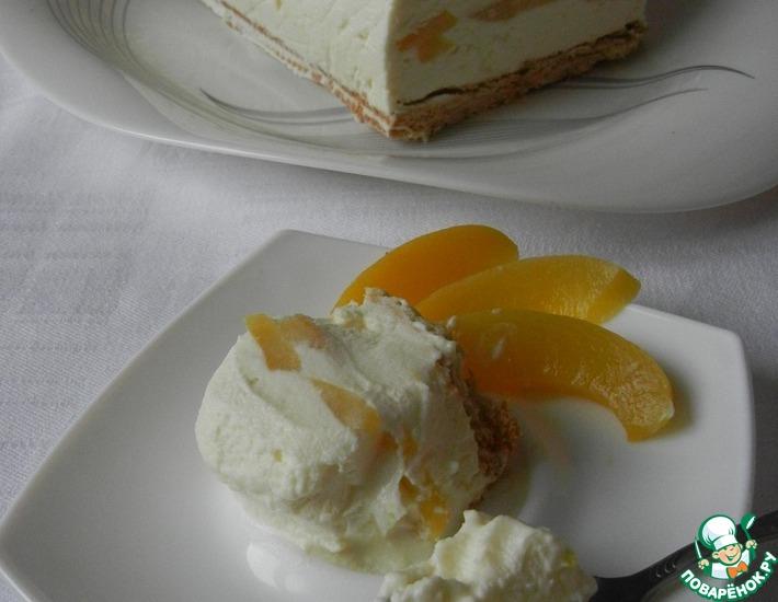 Рецепт: Замороженный творожный торт Наслаждение