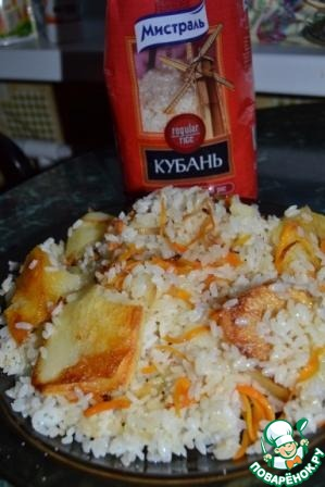 8. Cooking pilaf on low heat for 35-40 minutes.  Bon appetit!