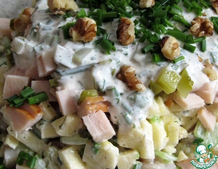 Рецепт: Немецкий селедочный салат