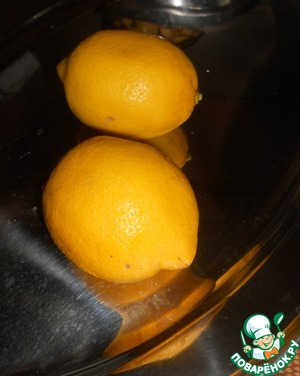 We need the zest of two lemons and the juice of one lemon.