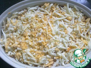 6 layer - grated 2 eggs.