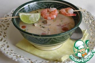 Рецепт: Тайский суп Том Кха