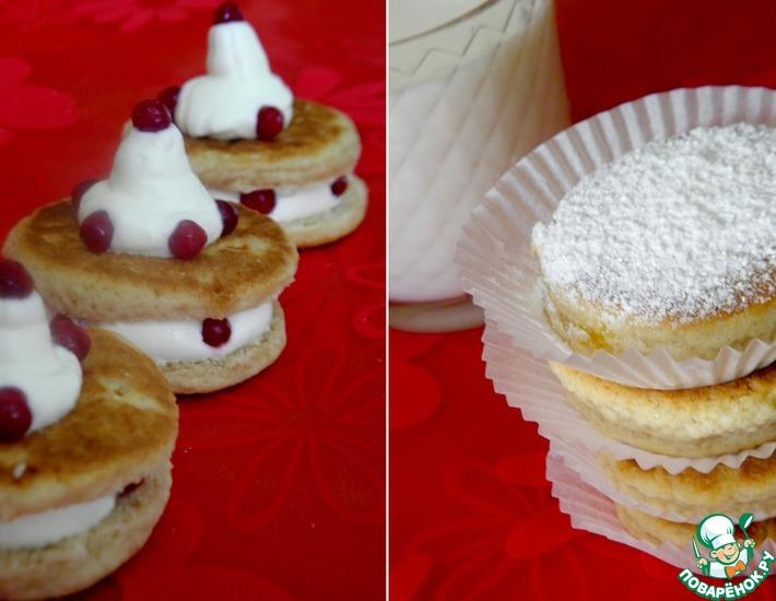 Рецепт: Welsh cakes со взбитыми сливками
