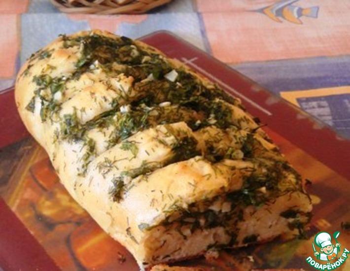 Рецепт: Багет с чесночным маслом