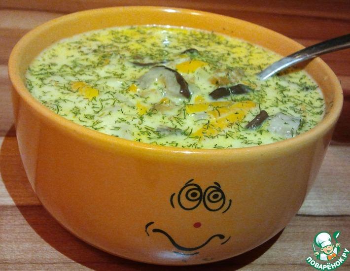 Рецепт: Грибной суп с лесными грибами