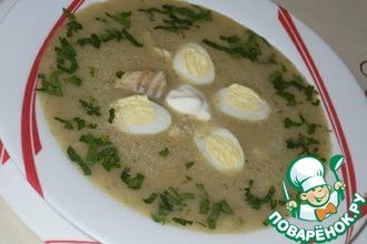 Рецепт: Рыбный суп со щавелем