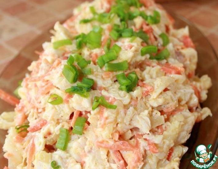 Рецепт: Салат из курицы и корейской моркови
