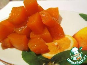 Pumpkin in lemon caramel
