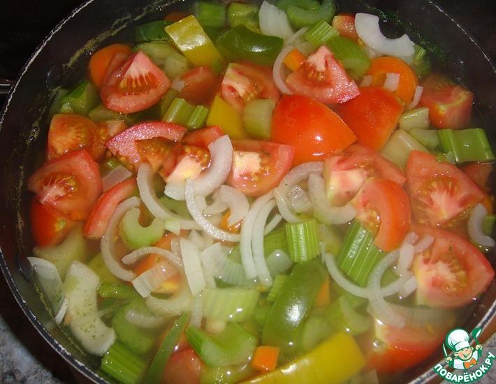 Рецепт: Суп из сельдерея для похудения