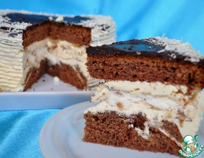 Рецепт: Шоколадный торт с безе