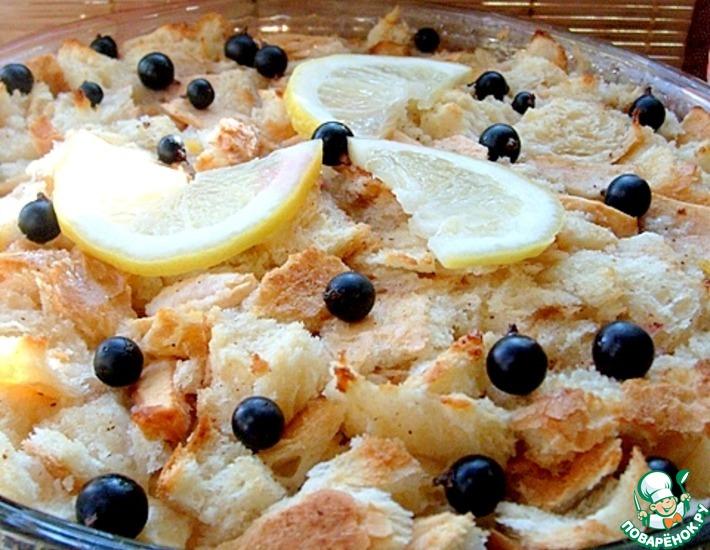 Рецепт: Хлебный пудинг с яблоками