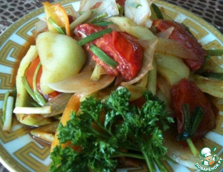Рецепт: Теплый овощной салат