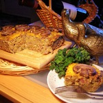 Австралийский пирог из чечевицы, лука и грибов