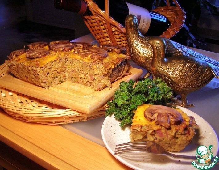 Рецепт: Австралийский пирог из чечевицы, лука и грибов