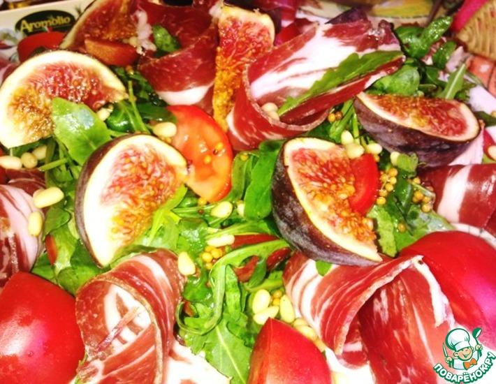 Рецепт: Салат с рукколой и инжиром
