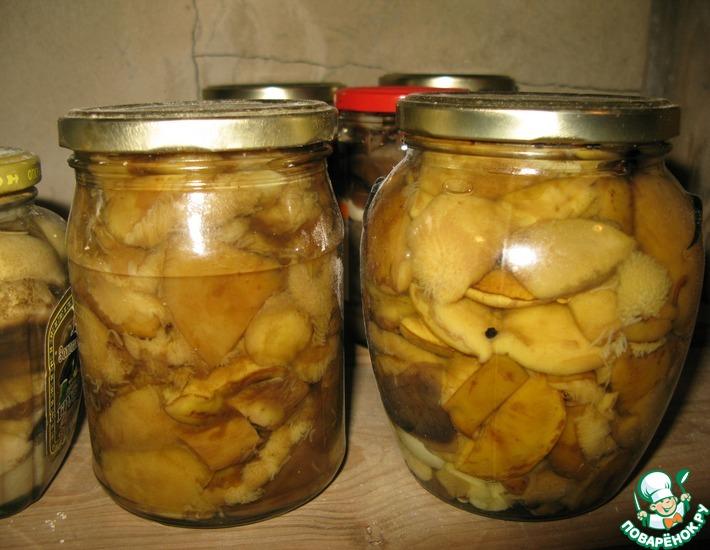 Рецепт: Белые грибы маринованные