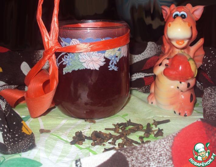 Рецепт: Горячий чай с вином и медом
