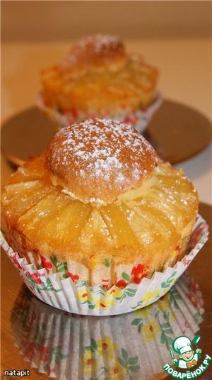 Рецепт Бисквитно-миндальные ананасовые кексы