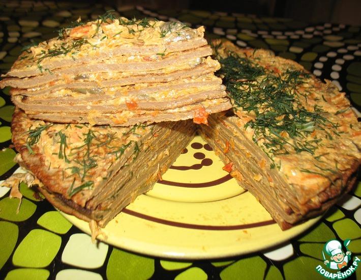 Рецепт: Печеночный тортик Омномном
