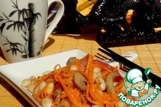 Рецепт: Салат по мотивам корейской кухни