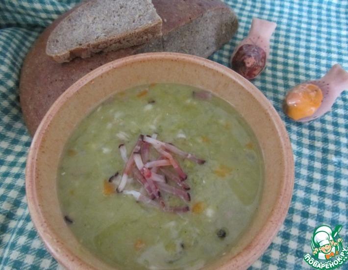 Рецепт: Гороховый суп с перловой крупой