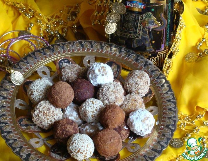 Рецепт: Индийские сладости из нута и сухофруктов
