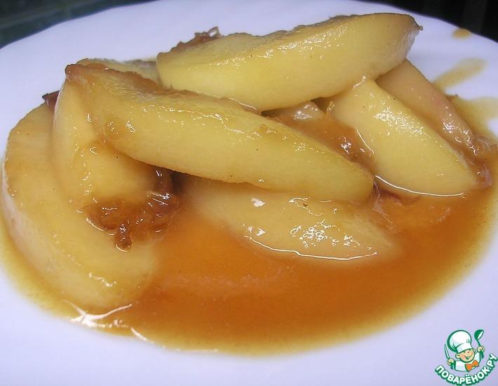 Рецепт: Жареные персики по мотивам Гордона Рамзи