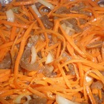 Хе из говядины и моркови