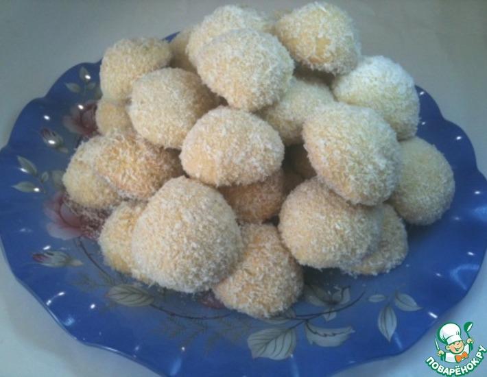 Рецепт: Печенье Снежки