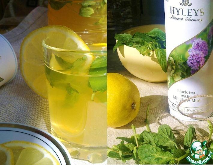 Рецепт: Чайный лимонад или Ice tea