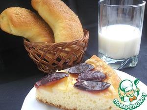 Рецепт Воздушные булочки со сметанной начинкой (тесто на сливках)