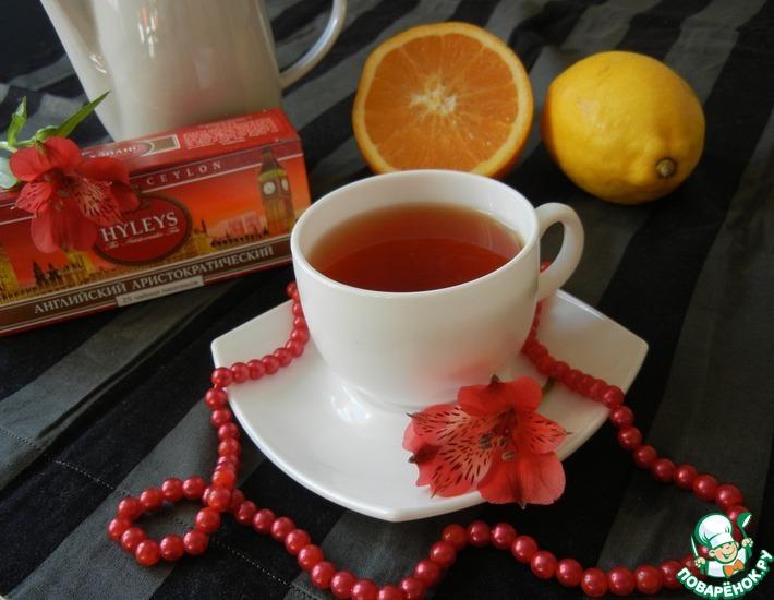 Рецепт: Чайный коктейль Аристократка