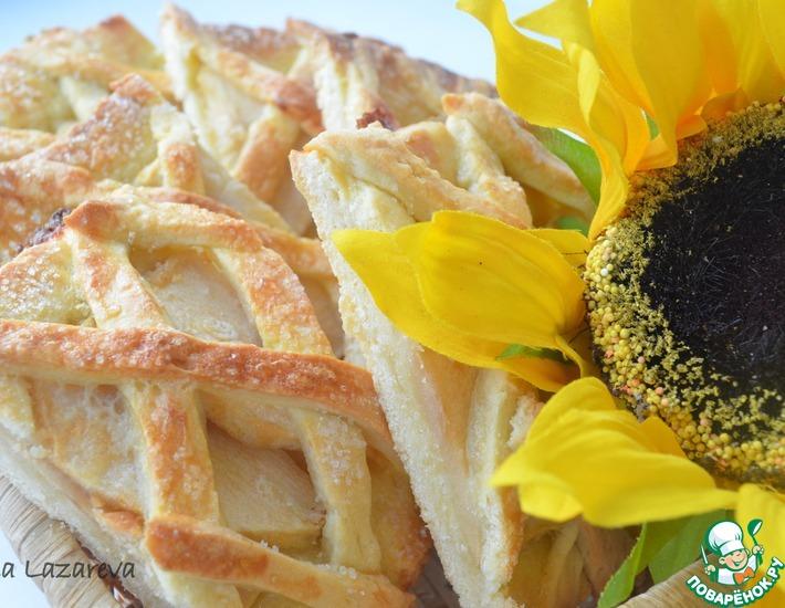 Рецепт: Песочное яблочное печенье За решеткой