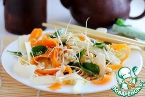 Рецепт: Салат с проростками маша