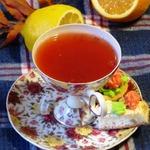 Клюквенный чай с цитрусовыми