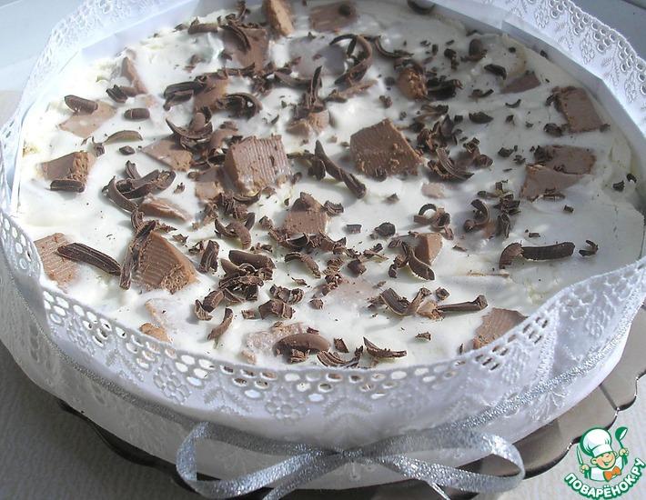 Рецепт: Торт-суфле шоколадно-ванильный